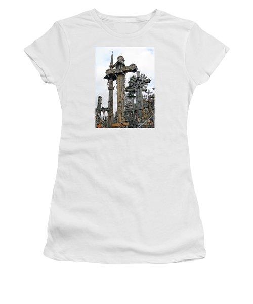 Hill Of Crosses 09. Lithuania Women's T-Shirt (Junior Cut) by Ausra Huntington nee Paulauskaite