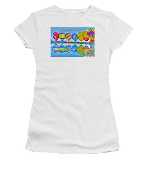 Hot Air Balloons At Eden Park Women's T-Shirt (Athletic Fit)