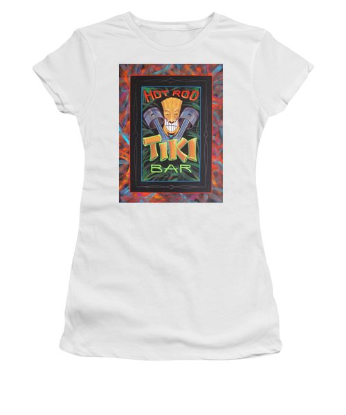 Hot Rod Tiki Bar Women's T-Shirt (Junior Cut) by Alan Johnson