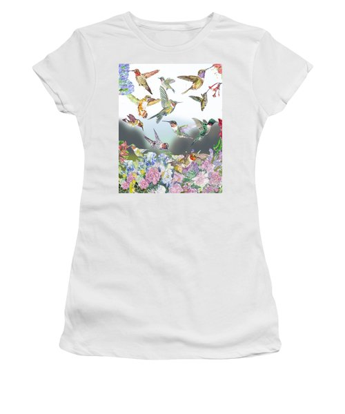 Hummingbirds Galore Women's T-Shirt (Athletic Fit)