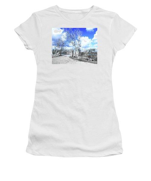 Women's T-Shirt (Junior Cut) featuring the photograph Hwy 82 Coastal Louisiana by Lizi Beard-Ward