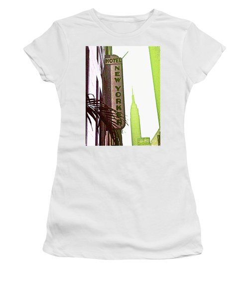 I Love New York Women's T-Shirt (Junior Cut) by Beth Saffer