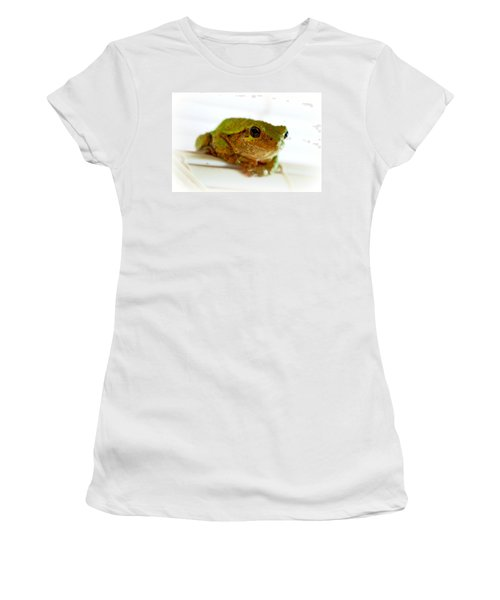 Women's T-Shirt (Junior Cut) featuring the photograph Im Watching You by Peggy Franz