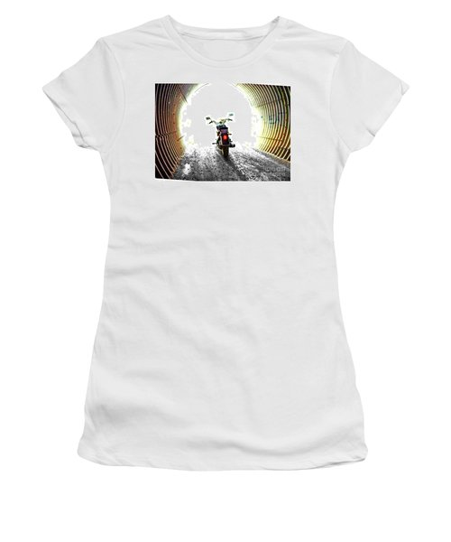 Women's T-Shirt (Junior Cut) featuring the photograph Into The Light by Blair Stuart