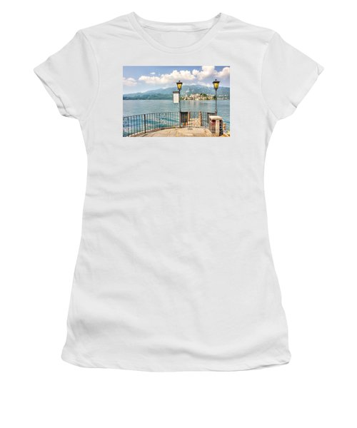 Island San Giulio On Lake Orta Women's T-Shirt (Athletic Fit)