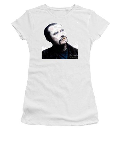 John Travolta In The Taking Of Pelham 123  Women's T-Shirt (Junior Cut) by Jim Fitzpatrick