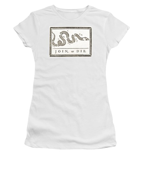 Join Or Die French And Indian War Women's T-Shirt