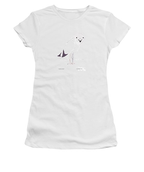Laughing Seagull Women's T-Shirt (Junior Cut) by Fred Jinkins