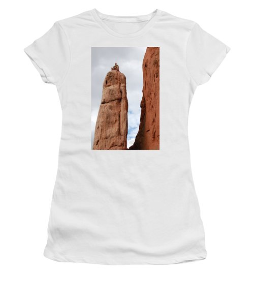 Lunch In The Mountains Women's T-Shirt