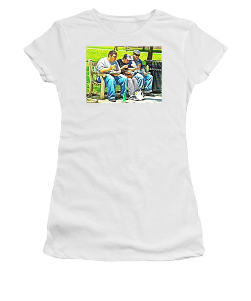 Women's T-Shirt (Junior Cut) featuring the photograph Lunchtime by Alice Gipson