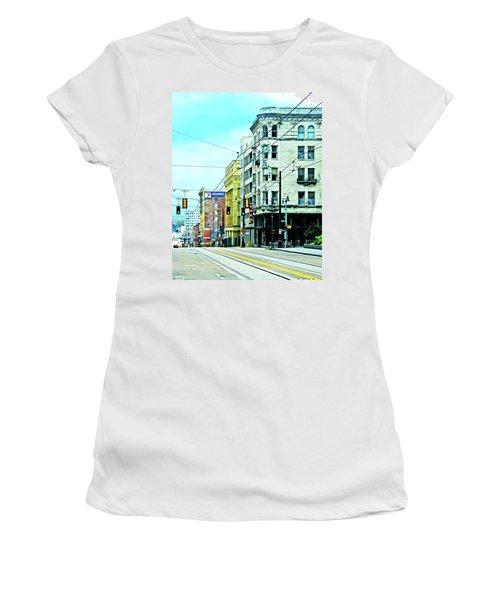 Women's T-Shirt (Junior Cut) featuring the photograph Madison Avenue by Lizi Beard-Ward
