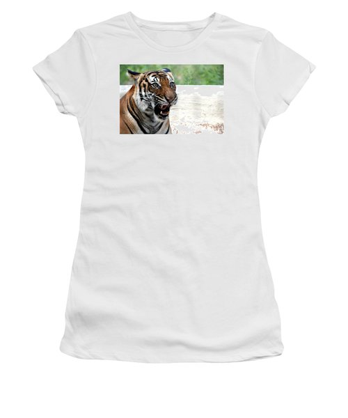 Women's T-Shirt (Junior Cut) featuring the photograph Make My Day by Kathy  White