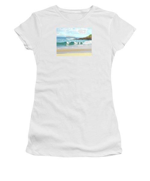 Maui Hawaii Beach Women's T-Shirt (Junior Cut) by Rebecca Margraf