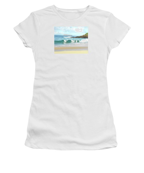 Maui Hawaii Beach Women's T-Shirt (Athletic Fit)