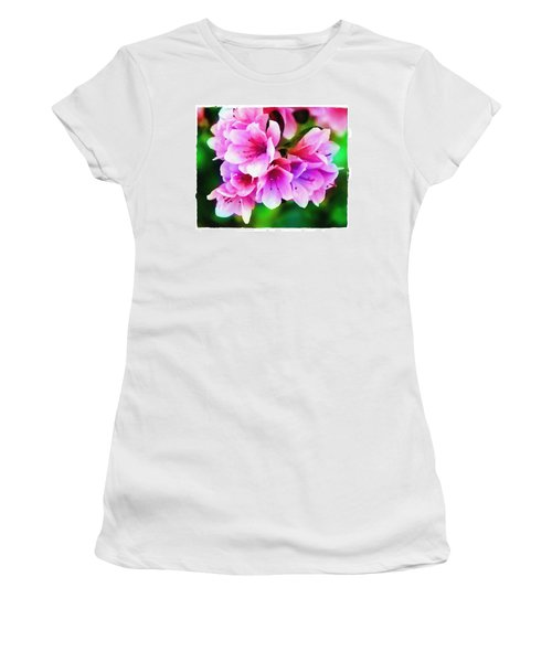 Miniature Azaleas Women's T-Shirt (Junior Cut) by Judi Bagwell