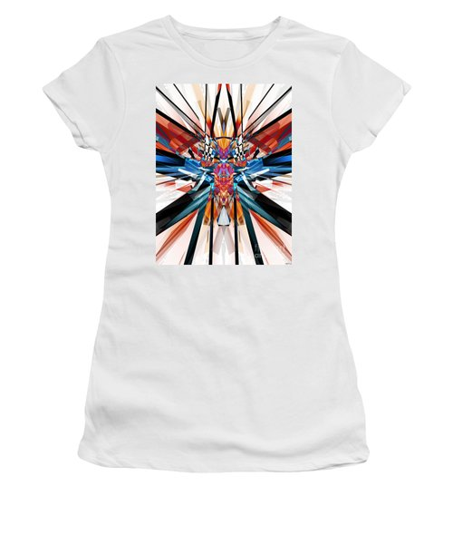 Women's T-Shirt (Junior Cut) featuring the digital art Mirror Image Abstract by Phil Perkins