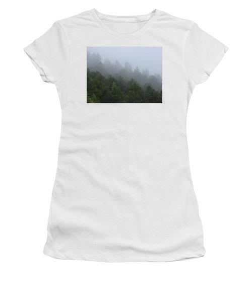 Misty Mountain Morning Women's T-Shirt (Athletic Fit)