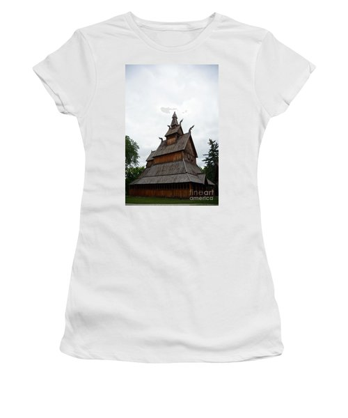 Moorhead Stave Church 26 Women's T-Shirt (Athletic Fit)