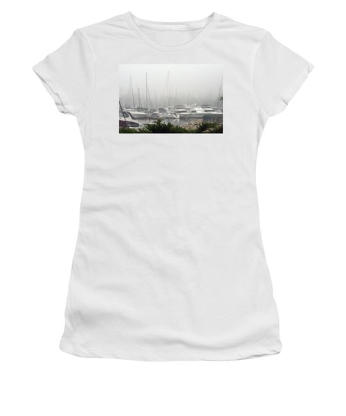 Women's T-Shirt (Junior Cut) featuring the photograph No Sailing Today by Kay Novy