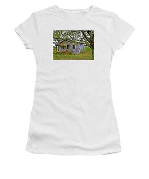 Old Gray House Women's T-Shirt (Junior Cut) by Judi Bagwell