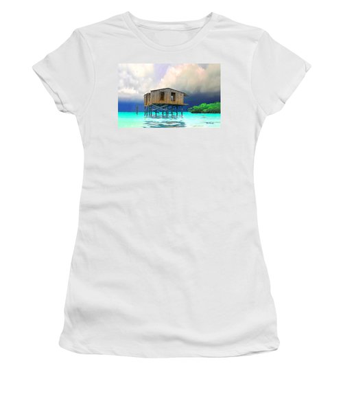 Old House Near The Storm Filtered Women's T-Shirt