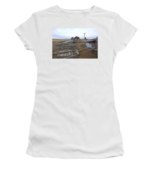 Women's T-Shirt (Junior Cut) featuring the photograph Once There Was A Farm by James Steele