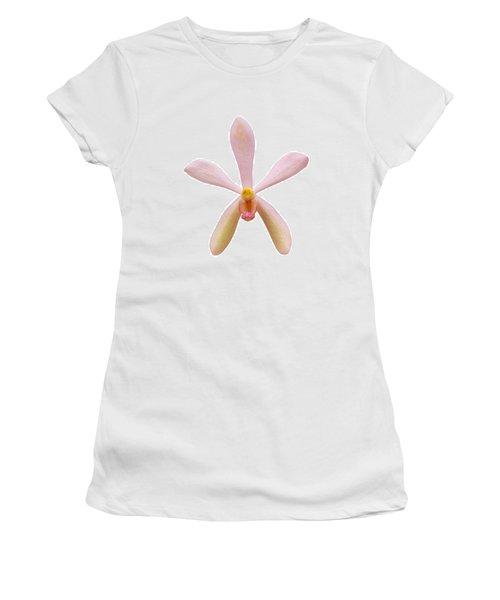 Pink Orchid Head Women's T-Shirt (Junior Cut) by Atiketta Sangasaeng