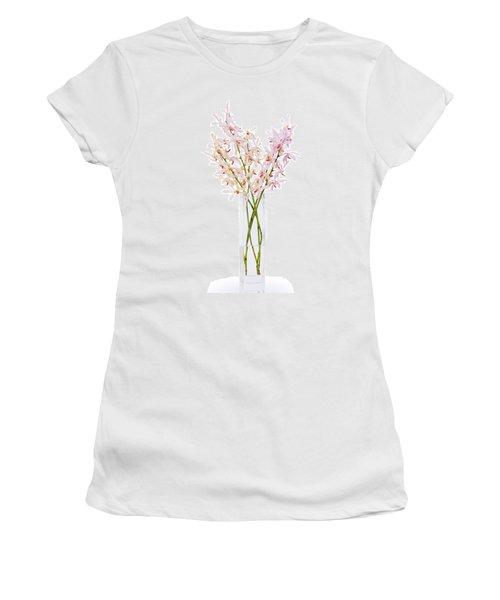 Pink Orchid In Vase Women's T-Shirt (Junior Cut) by Atiketta Sangasaeng