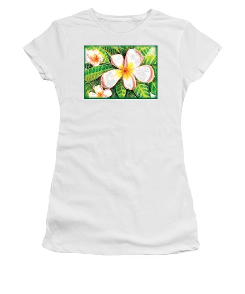 Plumeria With Foliage Women's T-Shirt