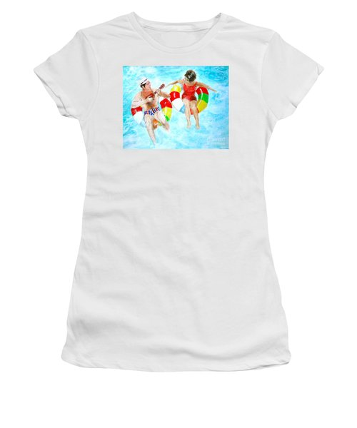 Pool Women's T-Shirt (Junior Cut) by Beth Saffer