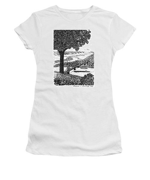 Portsmouth Ohio From A Kentucky Hill Women's T-Shirt (Junior Cut) by Frank Hunter