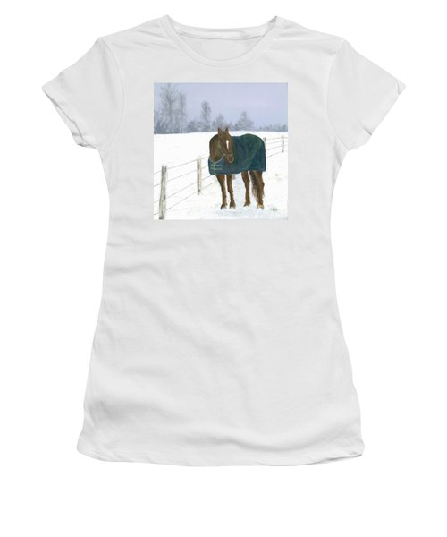 Women's T-Shirt (Junior Cut) featuring the painting Prince by Laurel Best