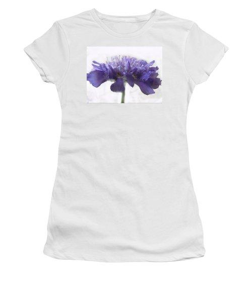 Women's T-Shirt (Junior Cut) featuring the photograph Purple Pincushin by Debbie Portwood