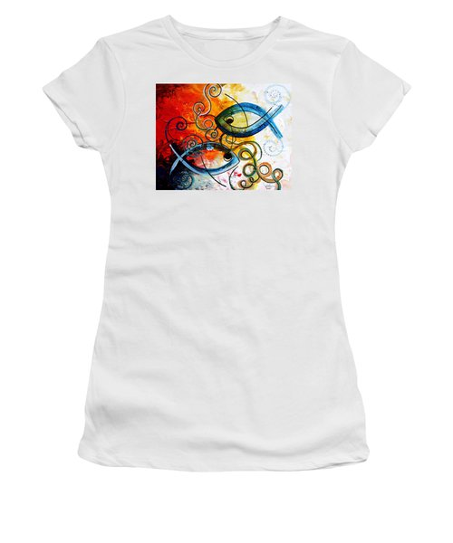 Purposeful Ichthus By Two Women's T-Shirt