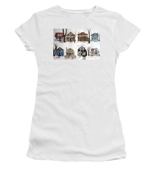Women's T-Shirt featuring the painting Raglan Road - Early Spring by Ruth Kamenev