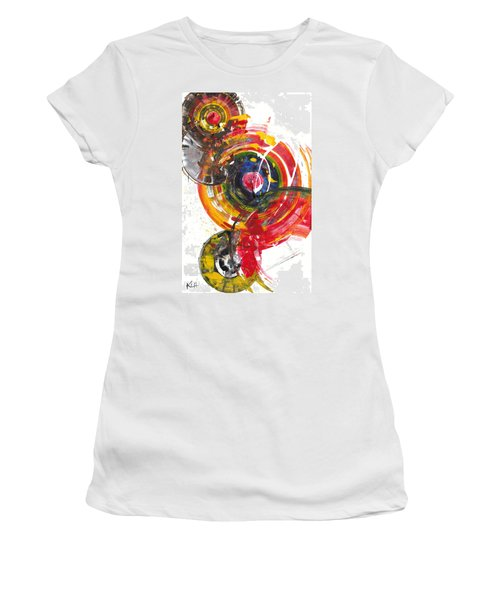 Red And Blue's Gold  837.120811 Women's T-Shirt (Junior Cut) by Kris Haas