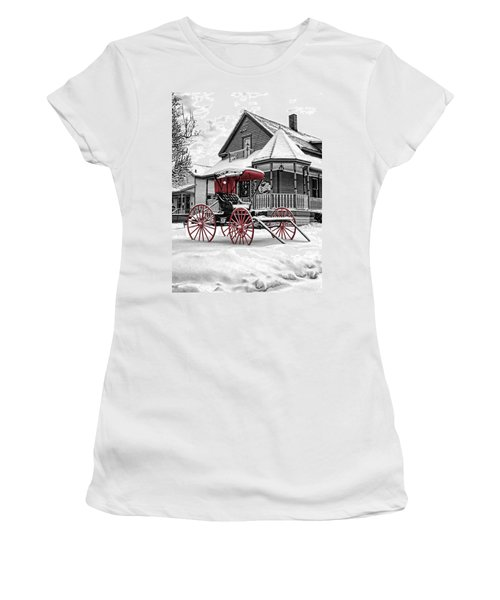 Red Buggy At Olmsted Falls - 2 Women's T-Shirt