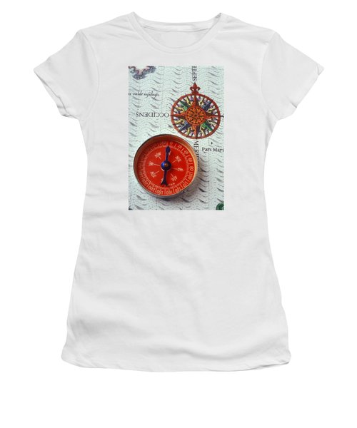 Red Compass And Rose Compass Women's T-Shirt