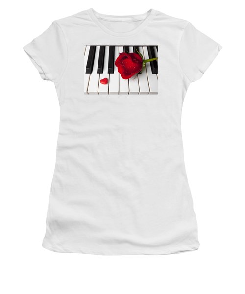 Red Rose And Candy Heart Women's T-Shirt