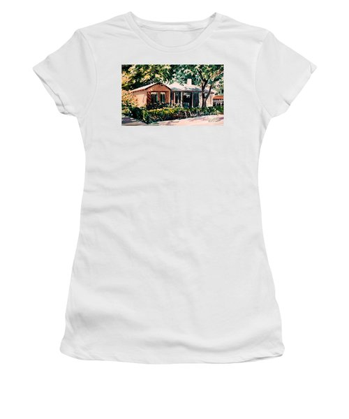 Women's T-Shirt (Junior Cut) featuring the painting Redwood City #4 by Donald Maier