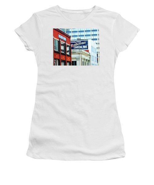 Women's T-Shirt (Junior Cut) featuring the photograph Rendezvous by Lizi Beard-Ward