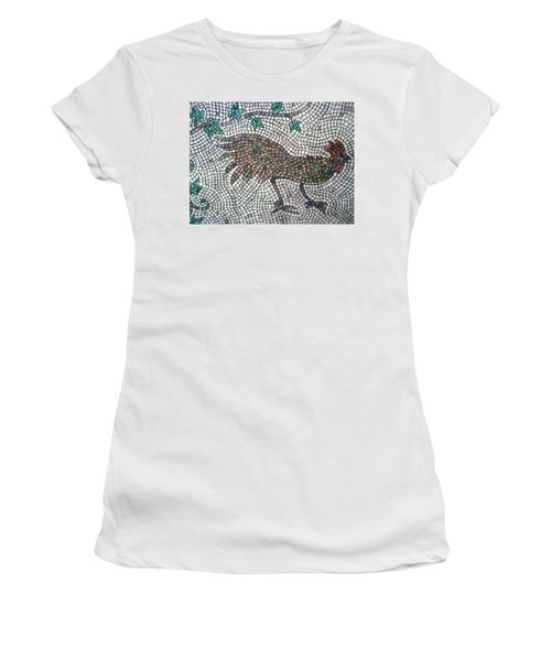 Women's T-Shirt featuring the painting Rooster Run by Cynthia Amaral