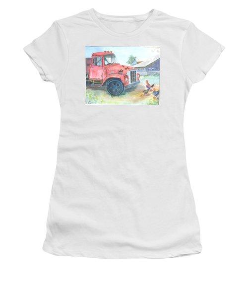 Rusty Truck Women's T-Shirt (Junior Cut) by Christine Lathrop