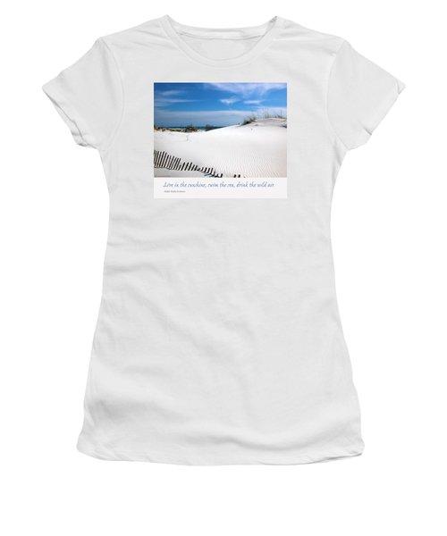 Sand Dunes Dream 3 Women's T-Shirt (Junior Cut) by Marie Hicks