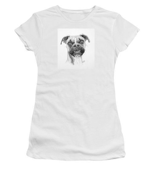 Women's T-Shirt (Junior Cut) featuring the drawing Scout by Mike Ivey