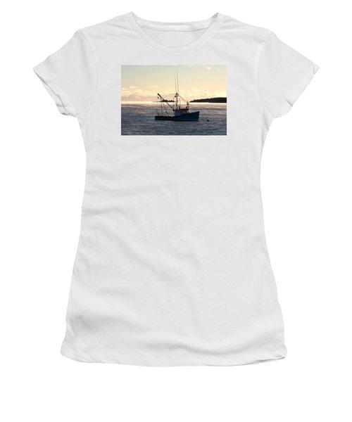 Sea-smoke On The Harbor Women's T-Shirt