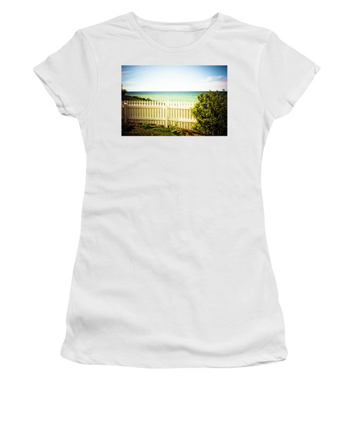 Women's T-Shirt (Junior Cut) featuring the photograph Seaside Retreat by Sara Frank