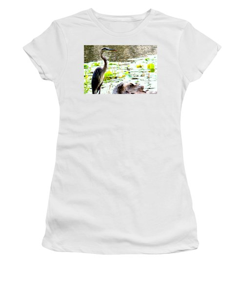 Women's T-Shirt (Junior Cut) featuring the photograph Silent Solitude by Kathy  White