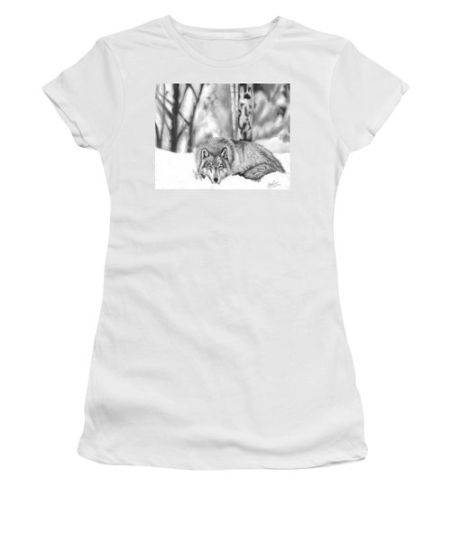 Sleeping In The Snow Women's T-Shirt (Athletic Fit)