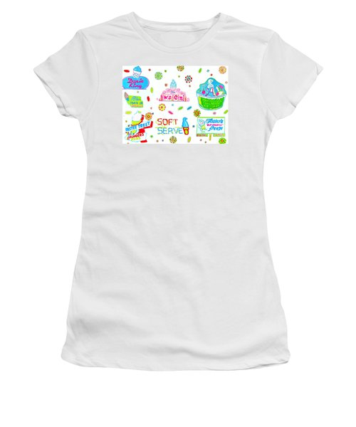Soft Serve Women's T-Shirt (Junior Cut) by Beth Saffer